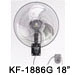 """KF-1886 18"""" (45cm) Industrial Wall Fan"""