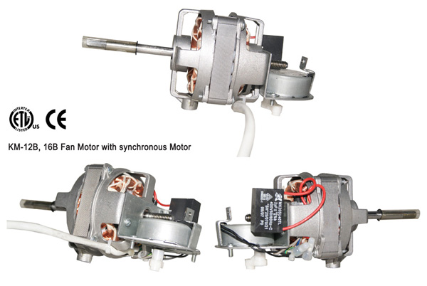 KM-12B, 16B Fan Motor with synchronous Motor